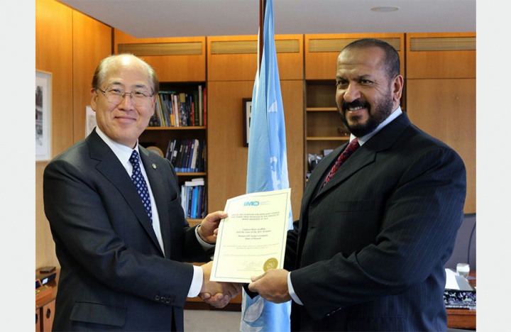 Sheikh Talal Khaled Al-Ahmad Al-Sabah, CEO of KOTC was presented with a Certificate of Appreciation from Kitack Lim, secretary general of the IMO.
