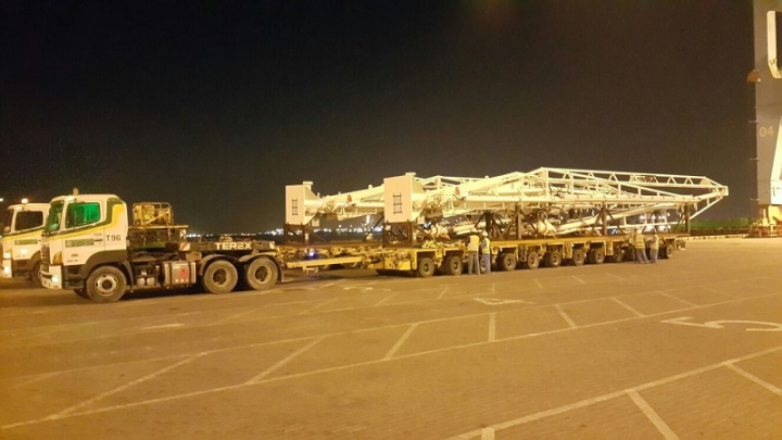 Turk Heavy Transport delivers marine loading arms in Bahrain