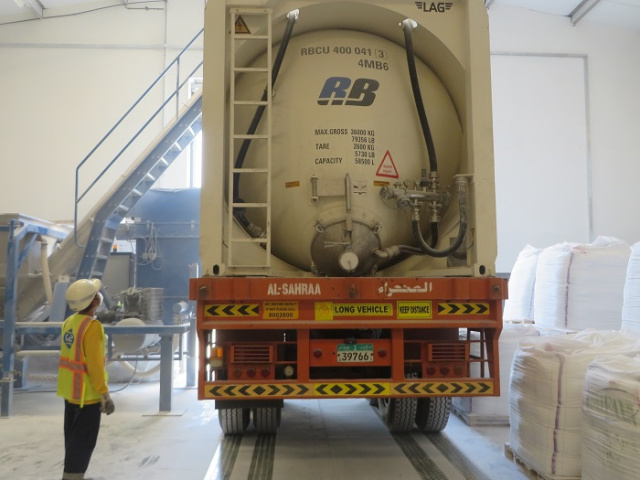 The two-year contract covers freight services, transportation, warehousing and handling of talcum powder from Italy to Ruwais for a client of IMI FABI.