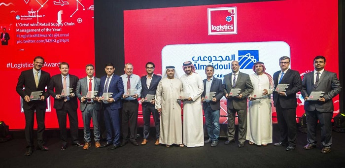 Last year's winners at the Logistics Middle East Awards 2017.