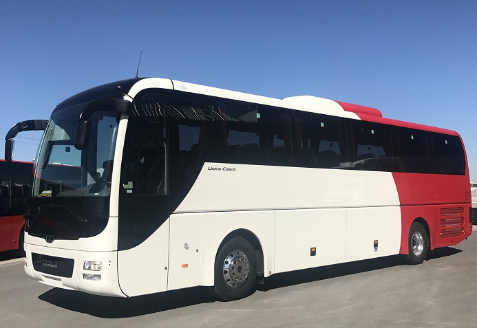 Mwasalat is the first company in the region to add to its fleet MANs safest-ever Lions Coaches that are equipped with advanced technology to reduce accidents, improve passenger comfort and ensure efficient and safe driving.