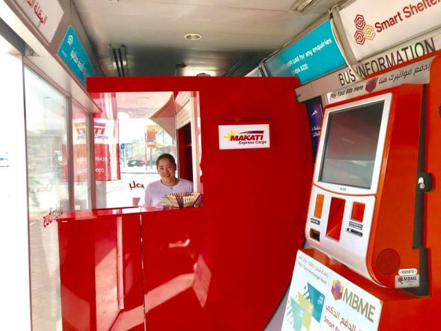 Makati Express Cargo has pick up and drop off kiosks in 'Smart Shelter' bus stations in Dubai.