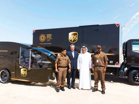 Jim Barber and Helal Saeed Al Merri, Director General Of Dubais Department Of Tourism And Commerce Marketing at Expo 2020 site last year. In May 2017, UPS was announced as the official logistics partner of the Expo 2020 Dubai.