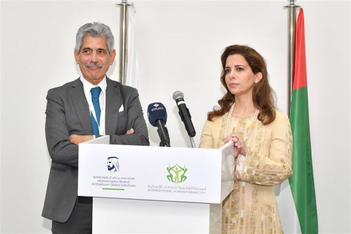 Princess Haya with IHC CEO Giuseppe Saba.