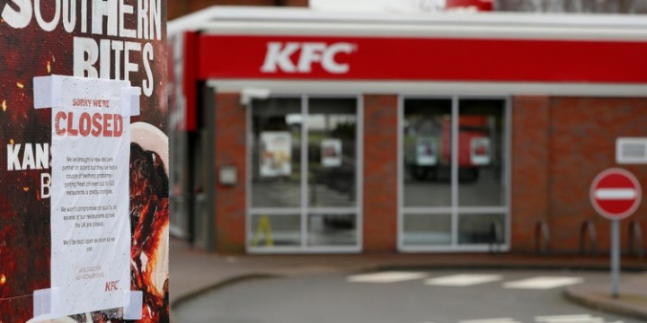Around 70% of KFC's stores in the UK have had to close due to a chicken shortage caused by a major supply chain mishap.