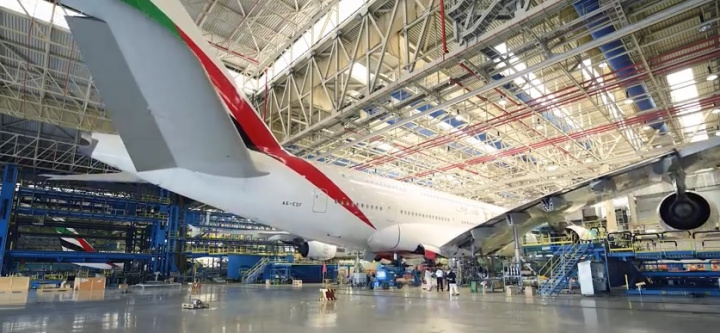 The process of changing all the landing gears was completed in 14 days with the Emirates Engineering team clocking thousands of man hours during this period.