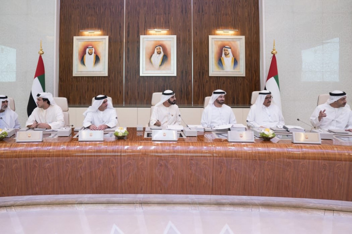 HH Sheikh Mohammed bin Rashid, Prime Minister and Ruler of Dubai, chairs a meeting of the UAE Cabinet.