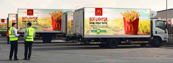 McDonald's UAE's entire logistics delivery fleet runs on biodiesel.