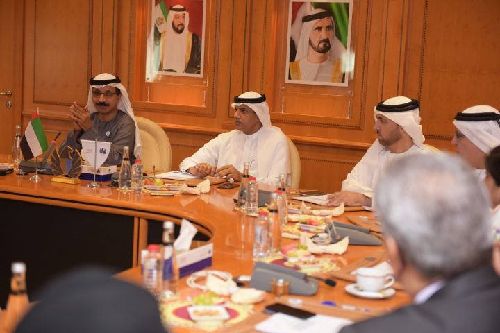Sulayem (left), speaking about the inland container terminal plans in Dubai.
