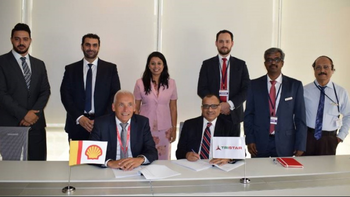 The deal was recently signed between Eugene Mayne, group CEO for Tristar, and Jack Eggels, general manager, chemical operations, Europa, Africa and Middle East, for Shell.