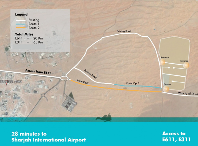 Saja'a Permanent Access Road is a two kilometre highway to link the Saja'a Industrial Investment Park (SIIP) via the Emirates Road (E611), to the three major seaports in Sharjah – Port Khalid, Hamriyah Port and Khorfakkan Port.