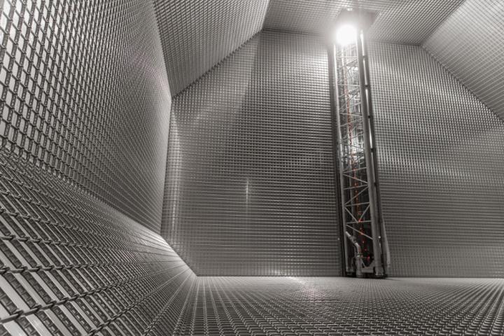 Inside an LNG fuel tank