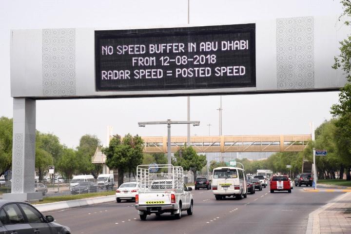 Abu dhabi, Speed limit, Traffic buffer, Uae