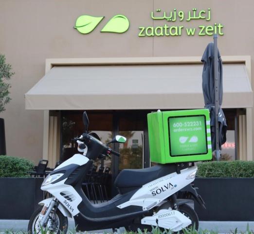 Zaatar w Zeit, Last mile, Electric bike, Uae, Delivery