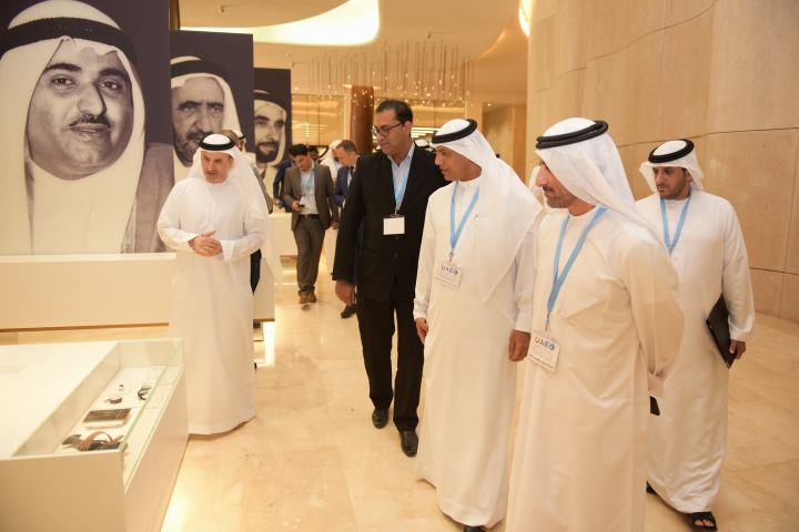 Ahmed Mahboob Musabih, director of Dubai Customs and a number of government officials and company representatives attended an honouring ceremony at Etihad Museum.