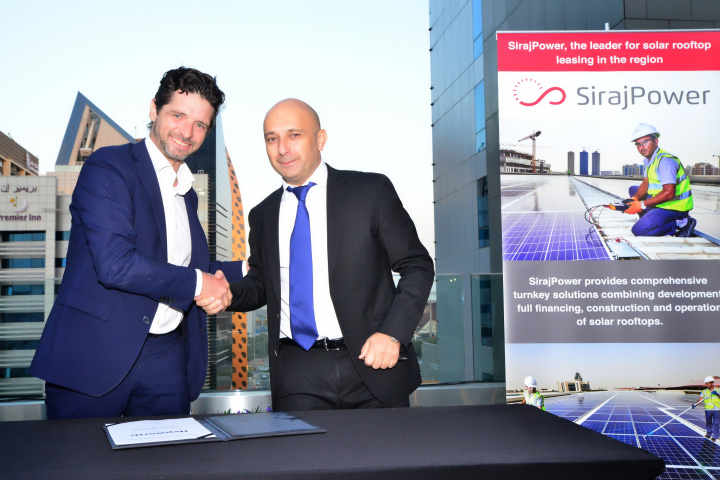 Laurent Longuet, CEO at SirajPower (right).