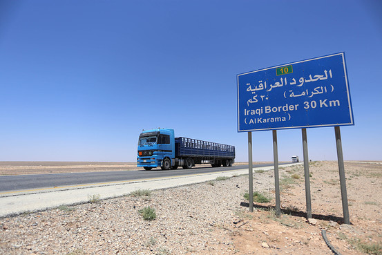 The agreement will make overland truck cargoes between Jordan and Iraq easier.