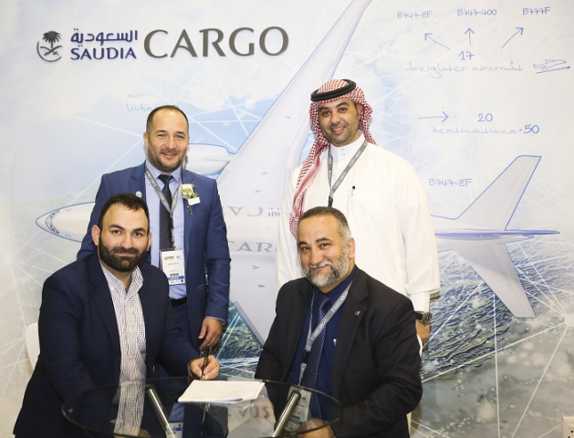 The contract signing took place at the Saudia Cargo booth in the presence of Saudia Cargo CEO Omar Hariri, Amer Abu Obaid executive director, commercial and Semih Kutlug director of charters.