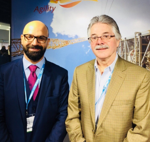 Mohammad Jaber, regional director, project logistics, Middle East and Africa, Agility (left) and Grant Wattman, president and CEO, Agility Project Logistics (right)