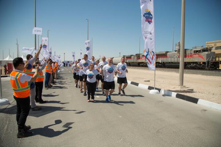 Etihad rail, Flame of Hope, Olympics, Rail