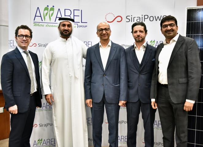 Apparel group, Sirajpower, Solar energy, Warehouse