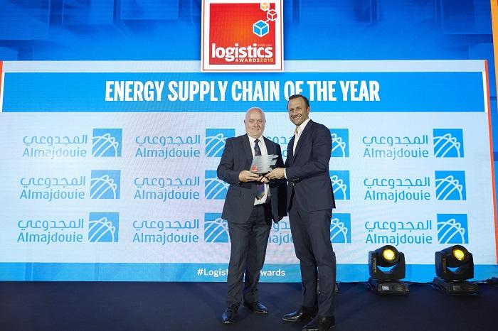 The award was presented by Stefano Pollotti, managing director of Almajdouie GEFCO