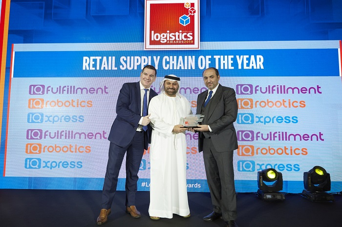 The award was presented by Fadi Amoudi, founder & CEO of IQ Fulfillment