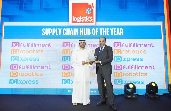 The award was presented by Fadi Amoudi, founder & CEO of IQ Fulfilment