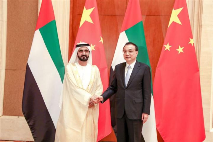 HH Sheikh Mohammed Bin Rashid Al Maktoum, Vice-President and Prime Minister of the UAE and Ruler of Dubai, meets president of China