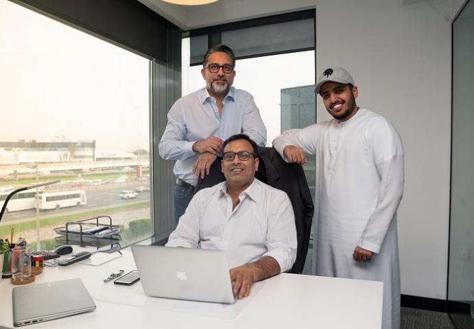 Naseer Ahmed, Abhinav Chaudhary & Abdulla Al Shaibani (L to R)