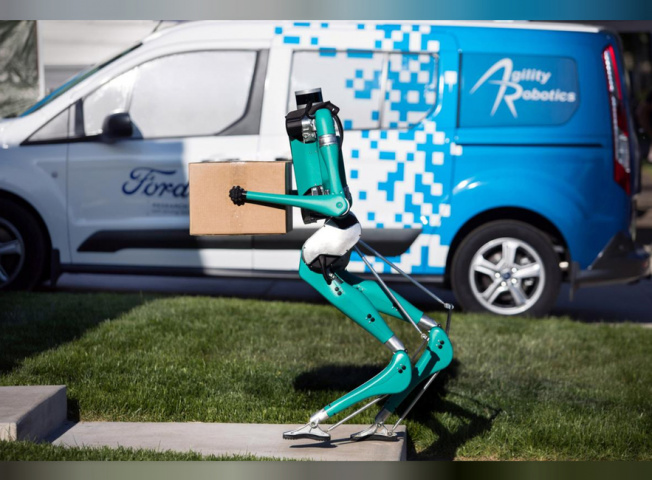 Ford, Agility robotics, Last mile, Delivery