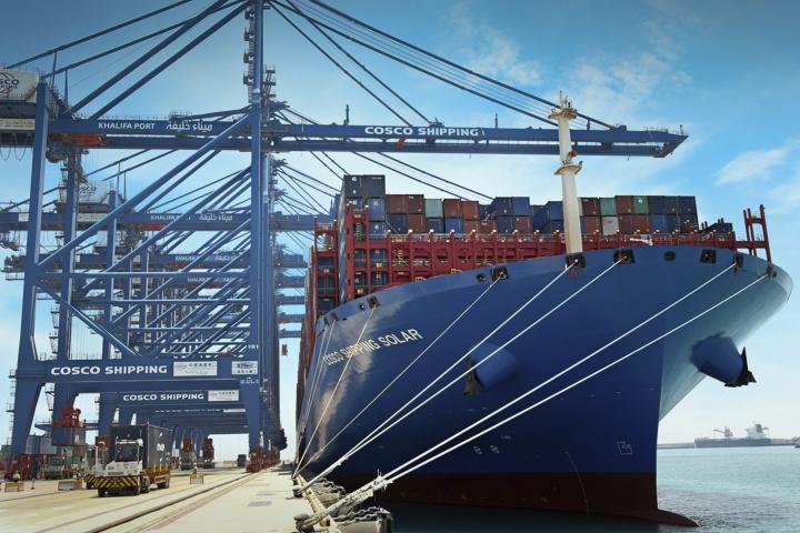 Cosco shipping, Khalifa Port, Abu Dhabi Ports, Shipping