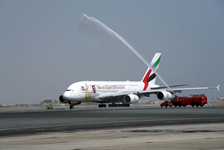 Emirates A380, Muscat