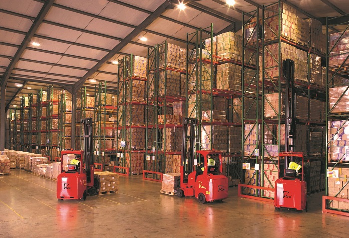 Narrow aisle, Warehouse, Mhe