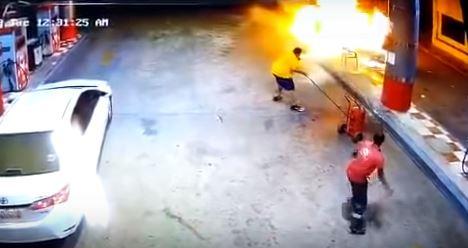 Fire, Petrol station, Saudi arabia, VIDEO