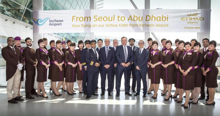 Etihad A380, Seoul, South korea, Abu dhabi