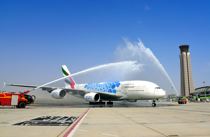 Emirates A380, Muscat, Oman, Emirates