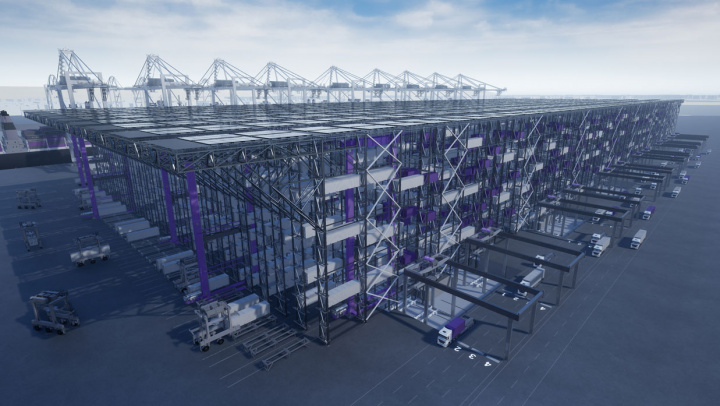 DP World's BoxBay high bay container stacking system will provide massive boost to port efficiency
