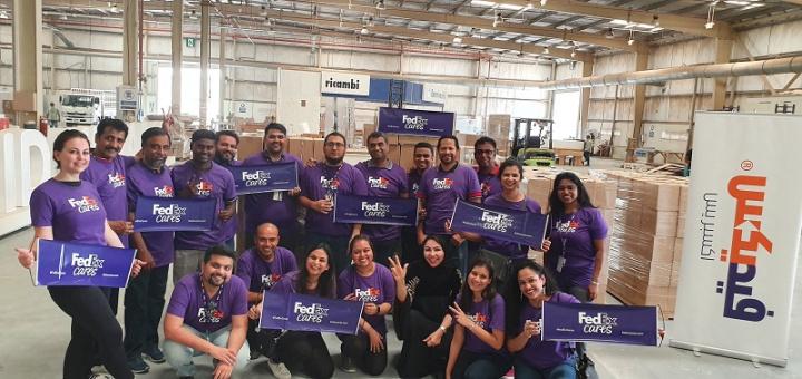 Fedex, Express logistics, Csr, Mena, India, Middle east