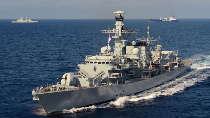 The Royal Navy warship HMS Montrose was sent to lend assistance
