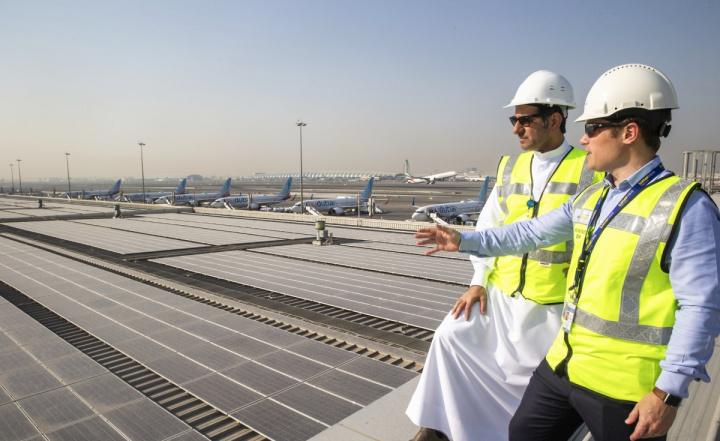 Dubai airport, DXB, Solar energy