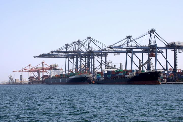 Oman International Container Terminal at Hutchison Ports Sohar.