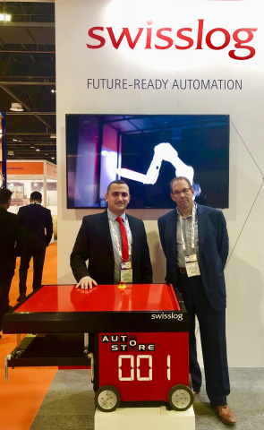Alain Kaddoum, general manager, Swisslog Middle East with Guy Dunkerley, group supply chain director, Axiom Telecom