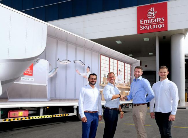 Emirates skycargo, Dubai, Seafood, Air cargo