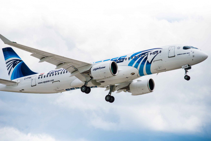 Egyptair, A220, Airbus, Transport