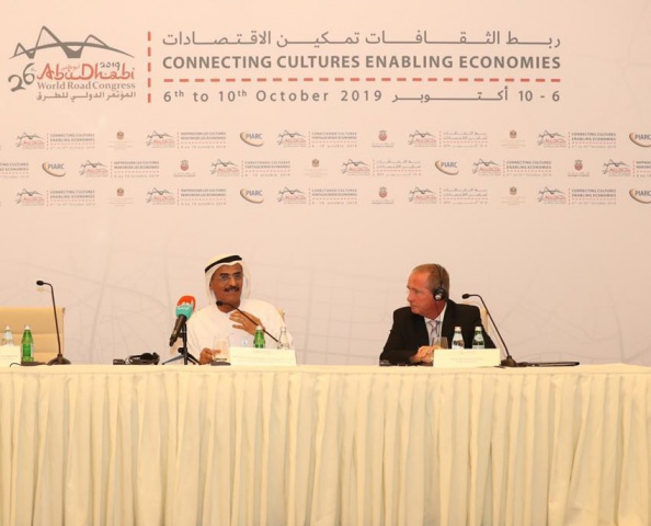 H.E. Dr Abdulla and Claude Van Rooten  at the opening press conference on October 2.