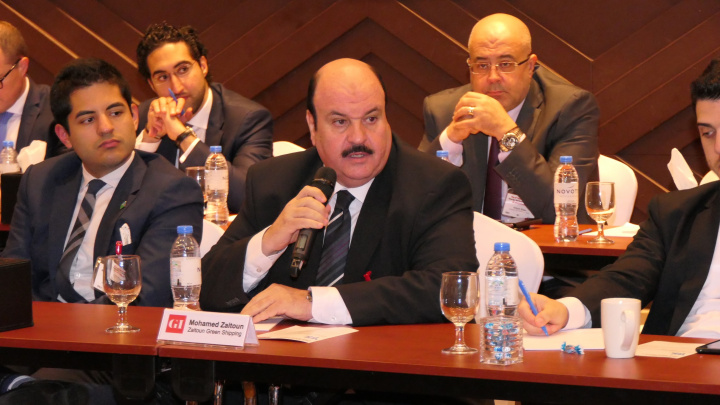 Eng. Mohammed Zaitoun speaking at the ninth edition of the Gulf Intelligence Energy Market Forum.