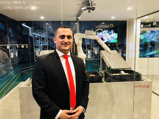 Swisslog Middle East general manager Alain Kaddoum at GITEX 2019.