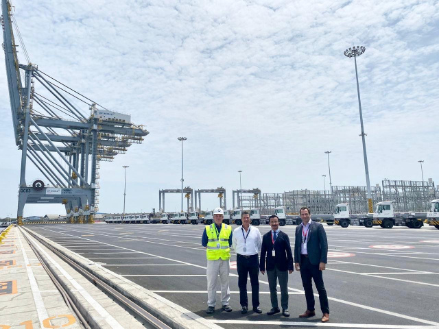 DP World group chairman and CEO Sultan Ahmed Bin Sulayem visited the facility to assess progress of the project.