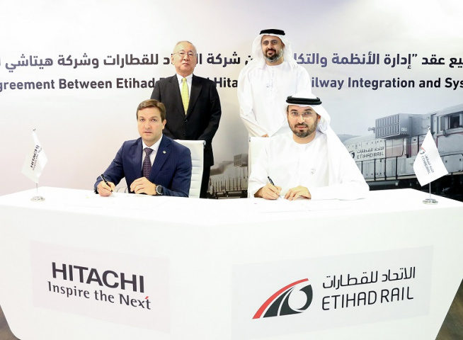 Etihad rail, Transport, Uae rail network, Hitachi